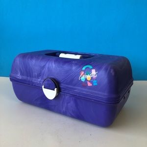 Swirly/Tie-dye Purple Caboodle